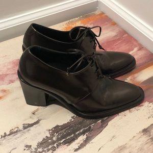 Joan & David vintage bronze heeled oxfords size 7